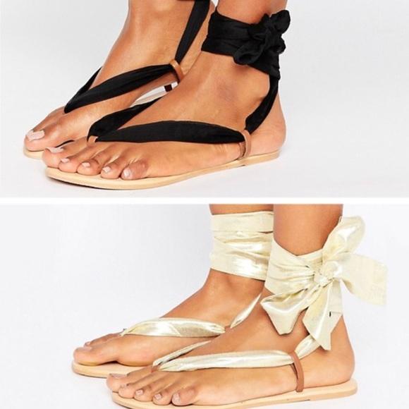 b12c485c03f ASOS Shoes - Interchangeable Tie Leg Flat Sandals